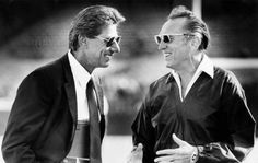 Oakland Raiders owner Al Davis and Hall of Fame quarterback Joe Namath