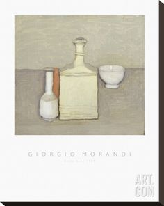 Still Life, 1957 Stretched Canvas Print by Giorgio Morandi at Art.com