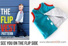 flip vest - unisex vest pattern for kids // MADE