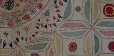 KANTHA needlework (deatiil)  late 19th Century / Bengal INDIA