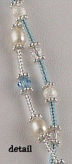 Jewelry Making Idea: Simply Elegant Twisted Bracelet or Necklace!  made with pearls and crystals!