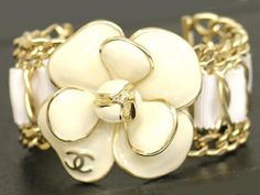 Beautiful CHANELFlower BANGLE for Coco ladies by Chandawa on Etsy, $1225.00