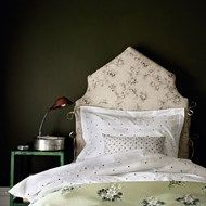 Country Style Bedroom with Floral Headboard