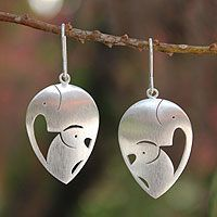 Fretwork Heart Earrings