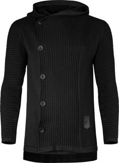 Heavy knit cardigan based on the design of Kylo Ren's outfit in Star Was Episode VII - The Force Awakens. The textured front and back as well as the rippled sleeves are inspired by the character...
