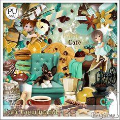 Cafe Gourmand Kit (PU) de KittyScrap