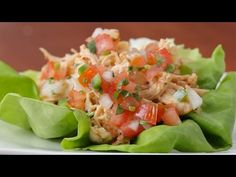 Grab One Of These Creamy Chipotle Chicken Lettuce Tacos For Lunch
