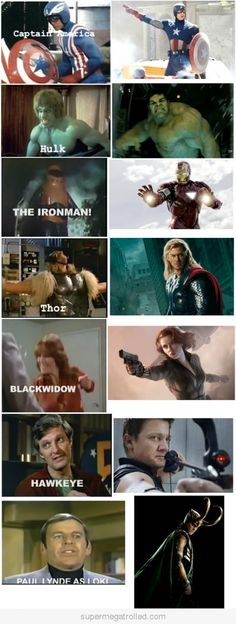 Avengers Before and Now