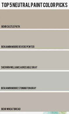 Revere Pewter vs Agreeable Grey