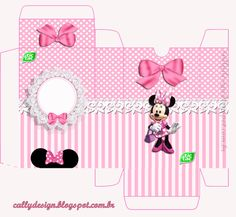 Mickey Mouse Birthday, Minnie Mouse Party, Mouse Parties, Eid Boxes, Theme Mickey, Diy Gift Box, Bday Girl, Printable Crafts, Birthday Crafts