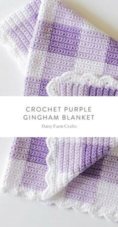 Crochet Afghans Patterns Free Pattern - Crochet Purple Gingham Baby Blanket - I'm beyond thrilled to share this purple gingham crochet blanket pattern with you! I've also made this blanket in pink and black if you'd like to see Crochet Baby Blanket Free Pattern, Crochet Baby Blanket Beginner, Afghan Crochet Patterns, Baby Patterns, Baby Knitting, Free Crochet, Knit Crochet, Crochet Afghans, Crochet Shawl