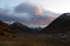 Unusual sunset over monte vago - null