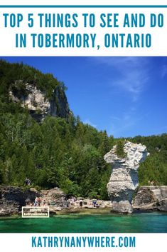 Top 5 Things to See And Do In Tobermory Ontario Tobermory Canada, Tobermory Ontario, Flowerpot Island, Canadian Travel, Canadian Rockies, Ontario Parks, Ontario Travel, Parks Canada, Hiking With Kids