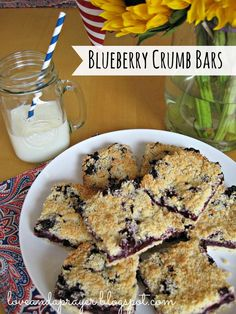 blueberry crumb bars recipe, easy blueberry recipe #food