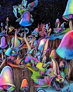 "45 Likes, 3 Comments - Pick a mood, start video Flow (@weedfrog) on Instagram: ""Swamp of Shroomrabbits. #weedfrog#trippy#420 #visual #psychedelic #weed #weedstagram #space #lsd…"""