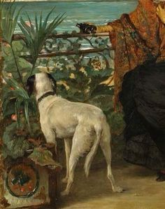 Alfred Stevens (Belgian, Lady with a dog Alfred Stevens, Paintings I Love, Antique Photos, Various Artists, Dog Art, Traditional Art, Creatures, Large Dogs, Pets