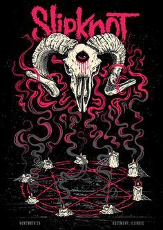 Slipknot Tattoo, Slipknot Logo, Slipknot Band, Heavy Metal Art, Heavy Metal Bands, Rock And Roll Sign, Metal Band Logos, Rock Band Posters, Tour Posters