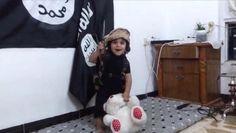 Jihadist Video Shows Little Boy Beheading His Cute and Cuddly Teddy Bear ~ theblaze.com. (Screenshot)