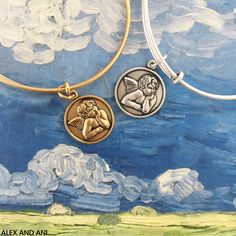ALEX AND ANI Cherub Charm Bangle. This CHARITY BY DESIGN Charm Bangle benefits Hasbro Children's Hospital.