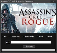 Finally Assassin's Creed Rogue Keygen its finished. After weeks of coding and testing our professional team of programmers manage to Assassin's Creed Rogue game to make a working Keygen for this wonderful game. Assassin's Creed Rogue can generate unlimited amount of  Keys for Assassin's Creed Rogue you have to follow a few simple steps. This Keygen is working very good and is undetectable by any security systems.The program is safe to use.