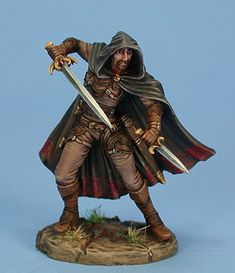 Male Dual Wield Assassin - Visions in Fantasy - Miniature Lines