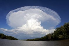 Adelaide River NT, a most spectacular storm. Amazing second anvil with the first…