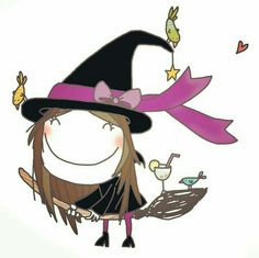 Cartoon Kids, Cute Cartoon, Pink Art, Cute Images, Children's Book Illustration, Witch, Doodles, Sketches, Animation