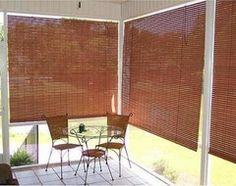 Outdoor Window Patio Sun Shade Indoor Bamboo Roller Porch Roll-Up ...