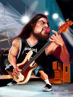 Heavy Metal Art, Black Label Society, Black And White Cartoon, Kodak Moment, Celebrity Caricatures, Pop Culture Art, Rock Legends, Music Film, Famous Faces