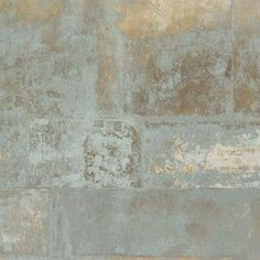 Henge is faux finish metal textured wallpaper. It has a rustic corroded stone look for an unmatched texture and depth. Use it in your office or living room.