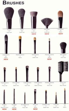 Find out how to use the brushes in your makeup kit