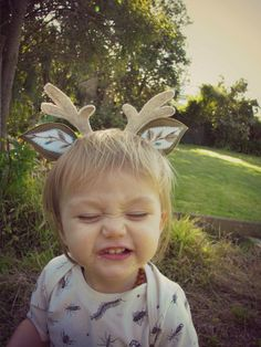 Woodland animal ears by Heart Felt - Baby fawn | Felt