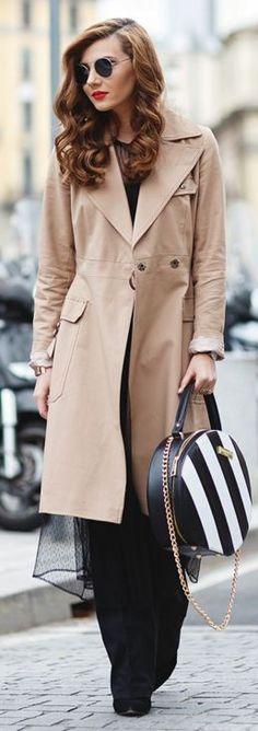 Zara dress, Zara flared pants,  Asos trenchcoat, Concept 15 Milano round Emma bag, Daniel Wellington watch, ZeroUV sunglasses, MAC Ruby Woo retro matte lipstick || Milan Fashion Week FW 16-17 Day 2 || The Mysterious Girl #zara