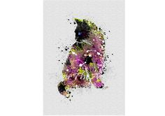 Cat lovers WALL ART. Cat painting. Home decor. Watercolor cat painting by PeterTheArtist on Etsy