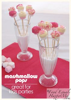 marshmallow pops  Would be great for hot chocolate!!!