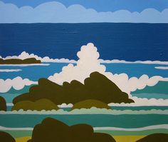 Pete Fowler's new sea scape paintings... incroyable