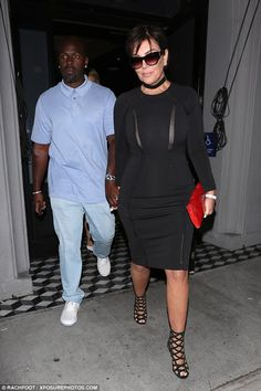 Risky business:Kris Jenner put the sexy into date night as she stepped out on a date night with toy boy Corey Gamblein West Hollywood, California, on Saturday night