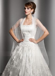 Wraps - $19.99 - Tulle Wedding Shawl (013014582) http://jjshouse.com/Tulle-Wedding-Shawl-013014582-g14582?ver=1