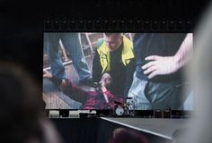 Dave Grohl of the Foo Fighters falls off stage during Sweden concert, finishes ... Dave Grohl  #DaveGrohl