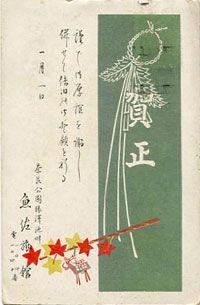 大正11年(1922年)戌年の年賀状と時代背景とを比較したコレクション