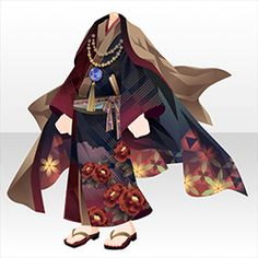 Cosplay Outfits, Anime Outfits, Cool Outfits, Kimono Fashion, Girl Fashion, Fashion Outfits, Fashion Design, Cocoppa Play, Ethnic Outfits