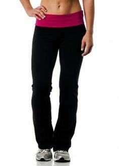 """Alki'i Women's Cotton Lycra Fold over Yoga Pant, $17.99. Kim said…""""These make your butt look great! They are plenty long enough and fit snugly, but not too snugly in all the right places. Sometime the band rolls up a little, But that is better than falling down at least you don't end up showing skin!"""""""