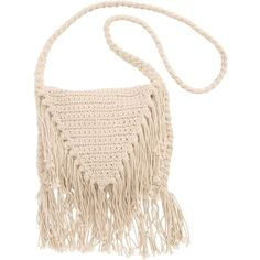 Billabong Women's Festival Fringe Crossbody Bag ($40) ❤ liked on Polyvore featuring bags, handbags, shoulder bags, accessories, white cap, fringe handbags, crochet shoulder bag, white crossbody handbags, fringe purse and white fringe purse