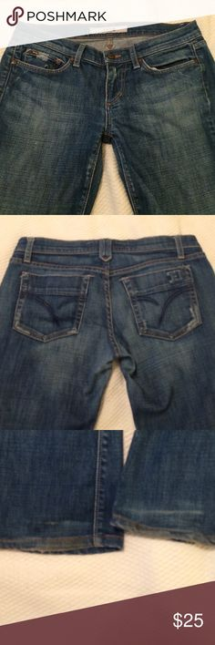 Joe's boot cut jeans Soft, tastefully distressed jeans. Great shape except some wear at hemlines. Joe's Jeans Jeans Boot Cut