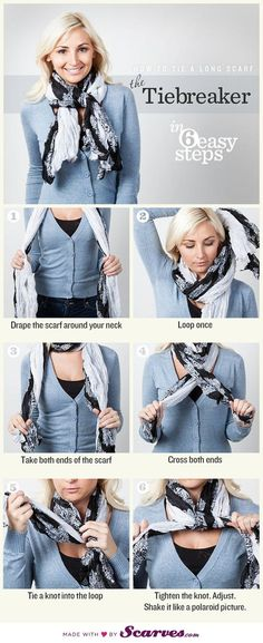 Как носить шарф? Самые полные инструкции в фотографиях. Больше 50 идей! - Gedonistka.com