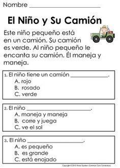 Set of 6 Set of Basic Spanish Posters #3