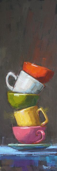 Cathleen Rehfeld • Large Original Oil Paintings: Balance Series : Stack # 4 - available
