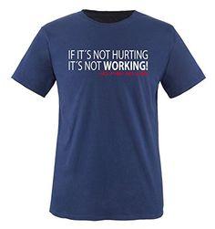 Comedy Shirts - IF IT'S NOT HURTING... - children T-Shirt camiseta - marina / blanco-rojo tamaño 86-92 #regalo #arte #geek #camiseta