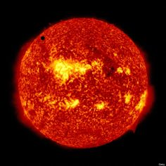Venus Transit Across The Sun  IN SPACE - JUNE 5: In this handout image provided by NASA, the SDO satellite captures a ultra-high definition image of the Transit of Venus across the face of the sun at on June 5, 2012 from space. The last transit was in 2004 and the next pair of events will not happen again until the year 2117 and 2125. (Photo by SDO/NASA via Getty Images)