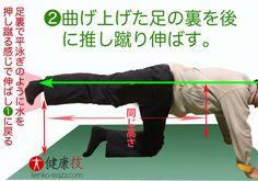 鼻腔広げイビキ鼻炎解消の脚運動2.健康技